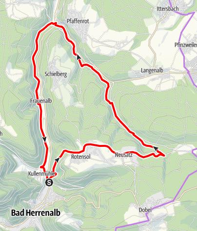 Karte / Rundtour über das Holzbachtal (KONUS)