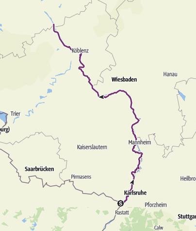 Map / Rheinradweg