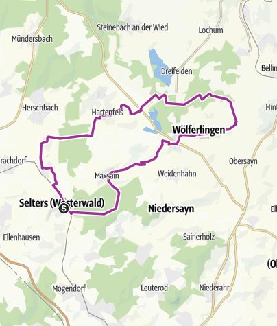 Map / Saynbach-Radrundweg