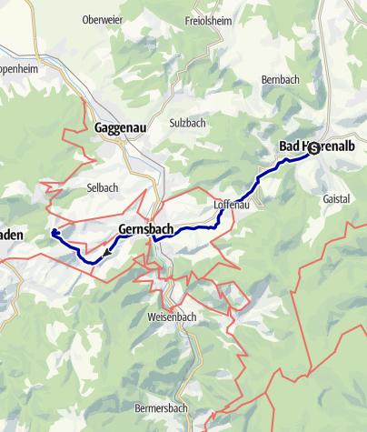 Karte / Über Gernsbach nach Baden-Baden (KONUS)
