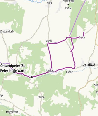 Térkép / Suhanás a mesés őrségi rétek között
