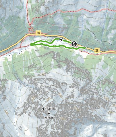 Map / Themenweg Chant Blau