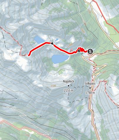 Karte / 3-Seen-Wanderung zu den Kaltenbachseen