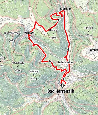 Karte / Rundwanderung über die Kiefershütte - ein Naturdenkmal