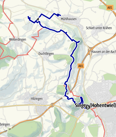 Karte / Hegauer Vulkankegel zwischen Hohentwiel und Philippsberg