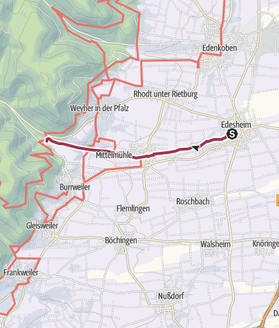 Carte / Mühlenwanderweg Hainfeld-Edesheim