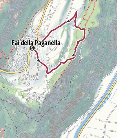 Cartina / Fai della Paganella - Sentiero dei Reti
