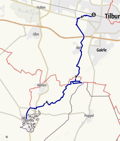 Kaart / Brabantse Herfsttocht - Tilburg-Baarle Nassau
