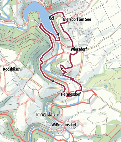Karte / Rundwanderweg des Naturpark Südeifel Nummer 16  Biersdorf am See