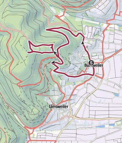 Karte / Burri-Rundweg mittel