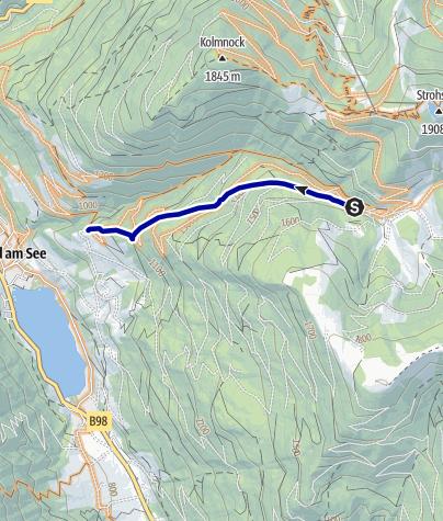 """Karte / T1 """"Alter Almweg-Trail"""""""