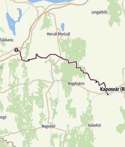 Mapa / Zalakomár – Kaposmérő (DDK-07.)