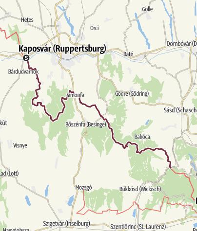 Térkép / Kaposmérő – Abaliget vasútállomás (DDK-08.)