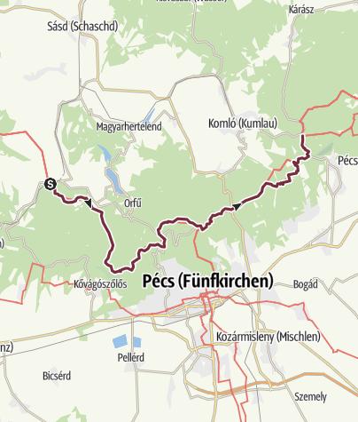 Térkép / Abaliget vasútállomás – Zobákpuszta (DDK-09.)