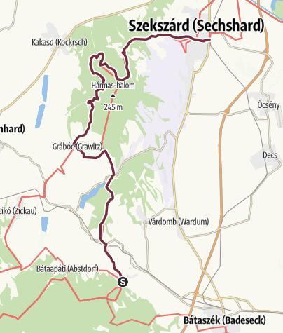 Térkép / Mórágy – Szekszárd (DDK-11.)