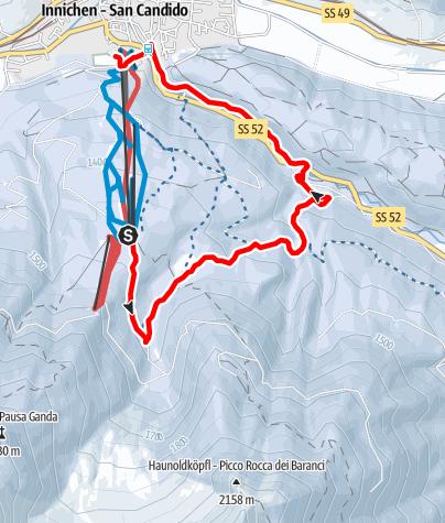 Map / Mountain station Monte Baranci - Bagni di San Candido - San Candido