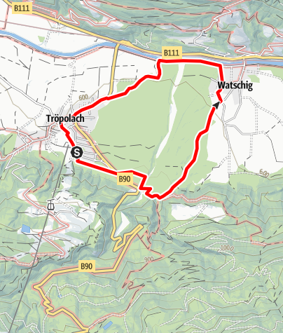 Karte / Tröpolach - Watschig -Tröpolach