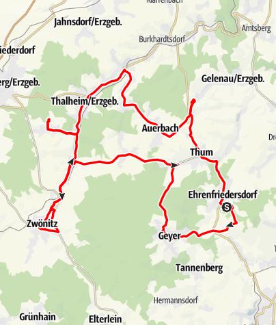Karte / Die Weihnachtsberge der Greifensteinregion