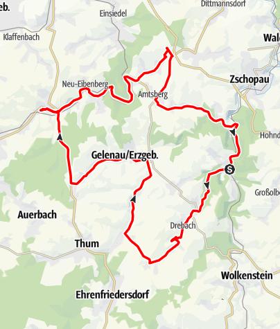 Karte / Lichterfahrt im Weihnachtsland Erzgebirge