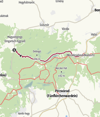 Térkép / A Vár-völgytől Mecseknádasdig