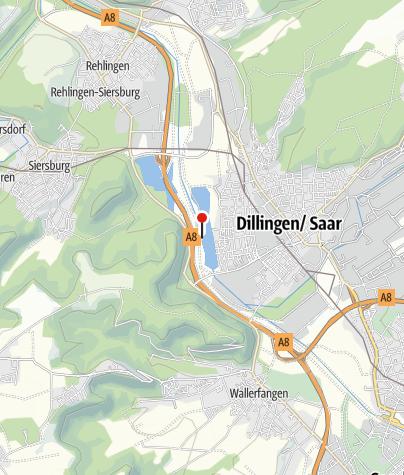Karte / Bootshaus Dillingen Saar