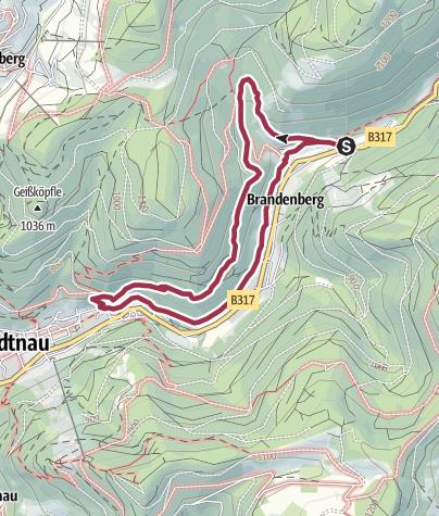 Karte / Walter-Wagner Weg - Todtnauer Geschichte erwandern