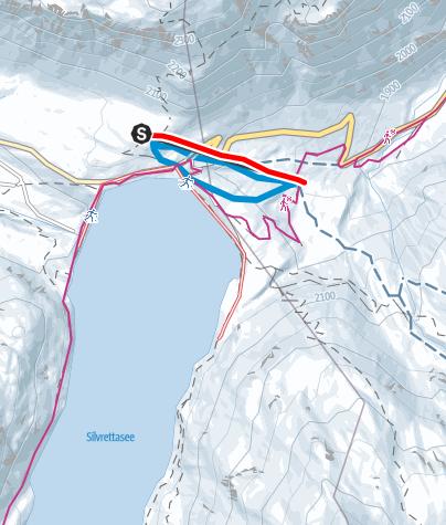 Map / Naturrodelbahn Silvrettasee