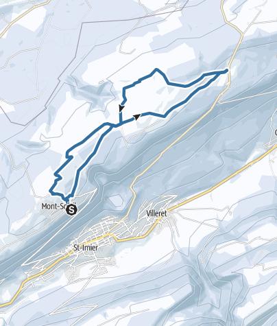 Map / Vom Mont Soleil zum Mont Crosin