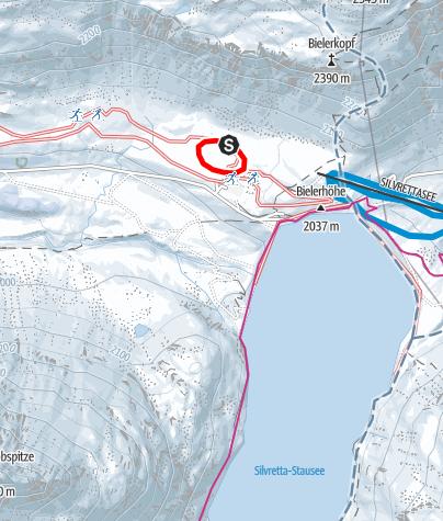 Map / Nr. 4: Silvretta-Höhenloipe, klein