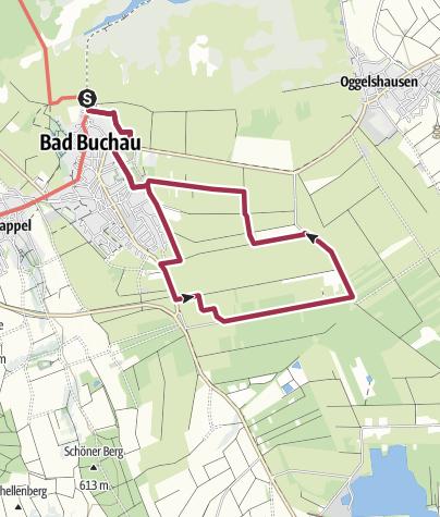 Karte / Archäologischer Moorlehrpfad