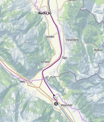 Karte / Familienroute (Bad Ragaz - Buchs/SG)