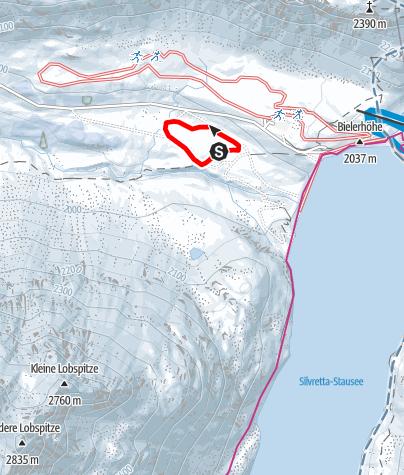 Map / Nr. 7: Madlenerhaus-Loipe, mittel