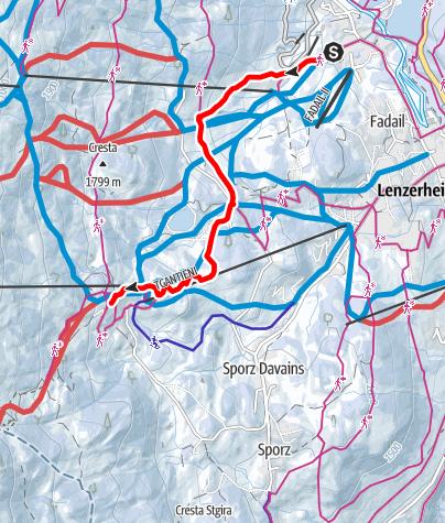 Karte / Valos - Blue Track 1