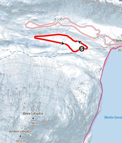 Map / Nr. 8: Madlenerhaus-Loipe, groß