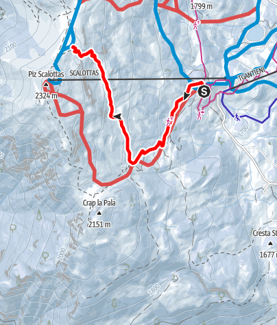Map / Plam las Plattas - Red Track