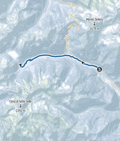 Map / Snowshoeing to Malga Cagnon