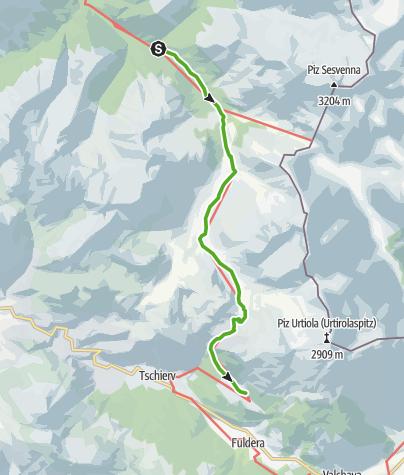 Map / S-charl - God da Tamangur - Alp Astras - Lü