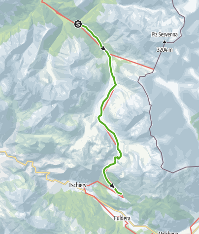 Kaart / S-charl - God da Tamangur - Alp Astras - Lü