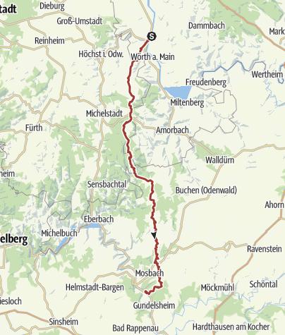 Karte / Westlicher Limes-Wanderweg