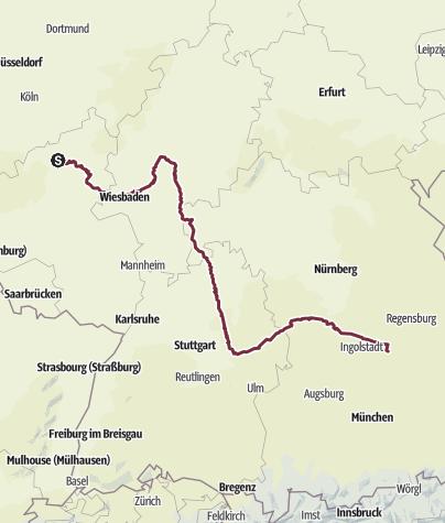 Karte / Östlicher Limes-Wanderweg