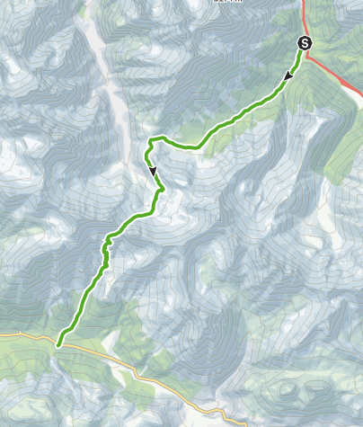 Map / Val Mingèr - Sur il Foss - Fuorcla Val dal Botsch - Ofenpassstrasse
