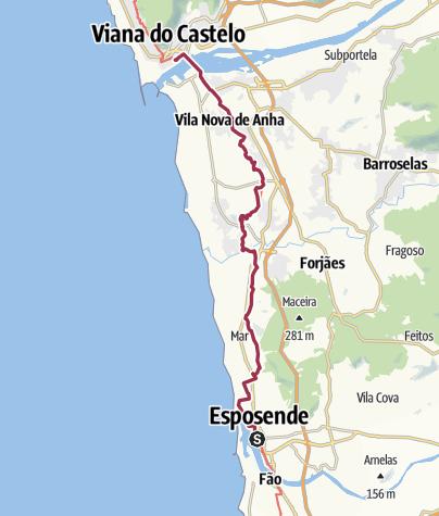 Map / Wanderung nach Viana do Castelo