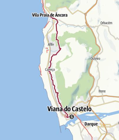 Map / Wanderung nach Praia de Ancora