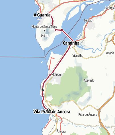 Map / Wanderung nach A Guarda