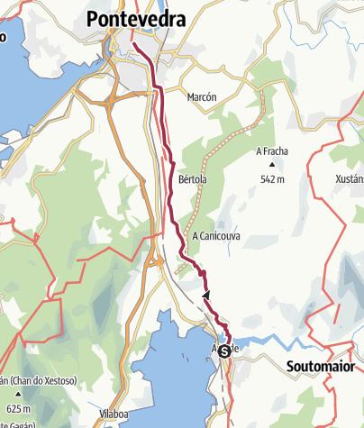 Map / Wanderung nach Pontevedra