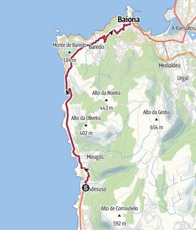 Map / Wanderung nach Baiona