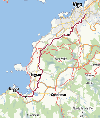 Map / Wanderung nach Vigo