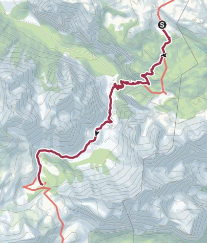 Map / Wanderung zur Fanes Hütte