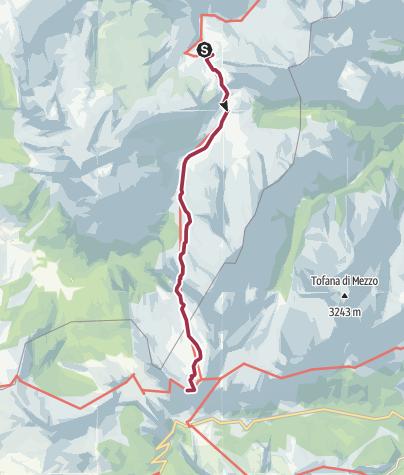 Map / Wanderung zur Lagazuoi Hütte