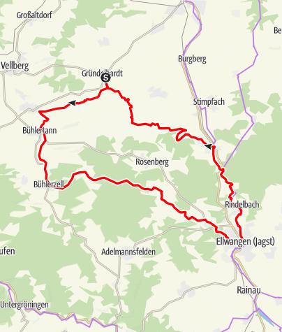 Karte / Tour de Hohenlohe 2019 - Sonntag Große Tour